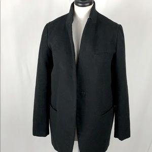 Zara Basic Overcoat Jacket Black XS